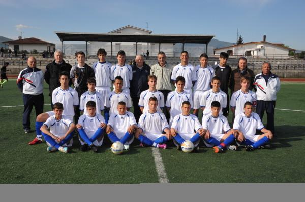 La squadra Giovanissimi (con Maurizio Rossi al centro) vincitrice del titolo italiano nel 2011